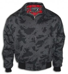 Kurtka KNIGHTSBRIDGE HARRINGTON z kołnierzem Night Camo