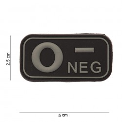 Naszywka PATCH 3D PVC BLOOD TYPE 0- NEGATIVE