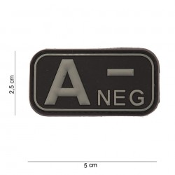 Naszywka PATCH 3D PVC BLOOD TYPE A- NEGATIVE