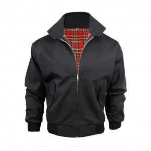 Kurtka KNIGHTSBRIDGE HARRINGTON z kołnierzem Black