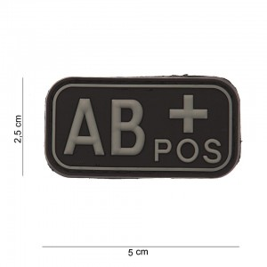 Naszywka PATCH 3D PVC BLOOD TYPE AB+ POSITIVE