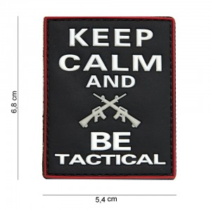 Naszywka PATCH 3D PVC Keep calm and BE tactical